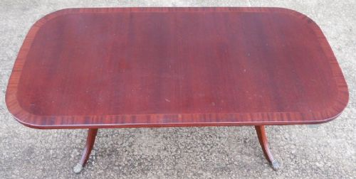 Antique Regency Style Mahogany Coffee Table by McIntosh